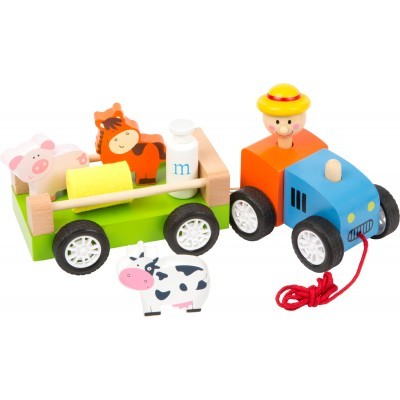 Tractor and trailer farm toy