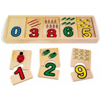 Number matching jigsaw