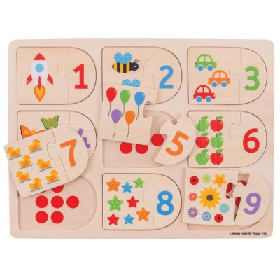 Matching number puzzles
