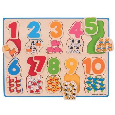 Number Counting Puzzle (Wooden)