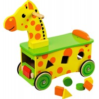 Giraffe ride-on shape sorter