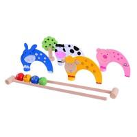 Wooden Croquet Game
