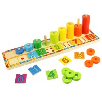 Wooden Learn to Count Stacking Toy