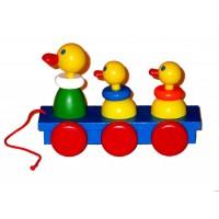 Bobbing Wooden Ducks
