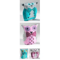 Owl /Cat shaped cushion - Blue Cat