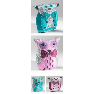 Owl /Cat shaped cushion - Blue Cat