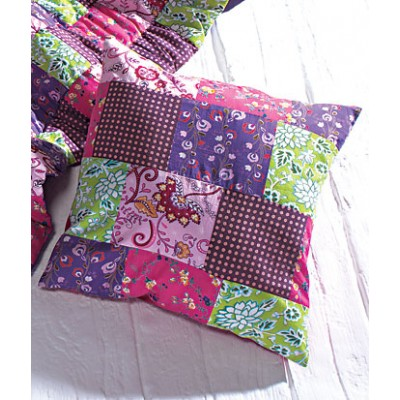 Kids handprinted patchwork cushion cover