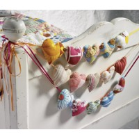 Fabric String of Hearts bunting