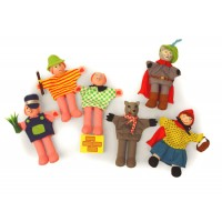 Red Riding Hood Finger Puppets Bigjigs