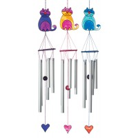 Cat wind chime light catcher