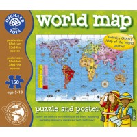 World Map Puzzle and Poster